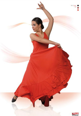 Jupes pour la danse Flamenco Happy Dance Ref.147PS15. Orange