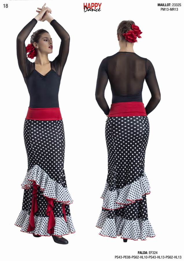Happy Dance. Woman Flamenco Skirts for Rehearsal and Stage. Ref. EF324PS43PE08PS62HL10PS43HL13PS62HL13