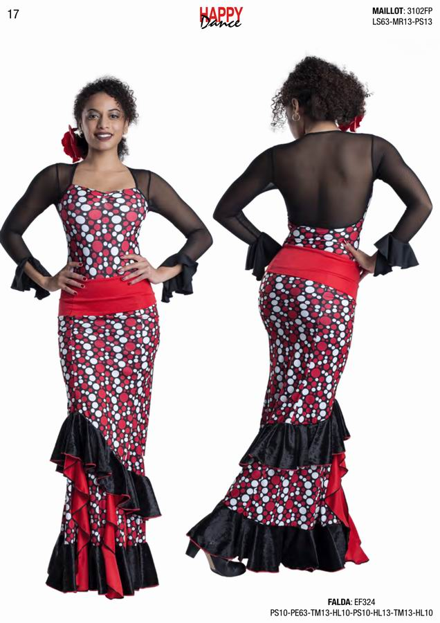 Happy Dance. Flamenco Skirts for Rehearsal and Stage. Ref. EF324PS10PE63TM13HL10PS10HL13TM13HL10