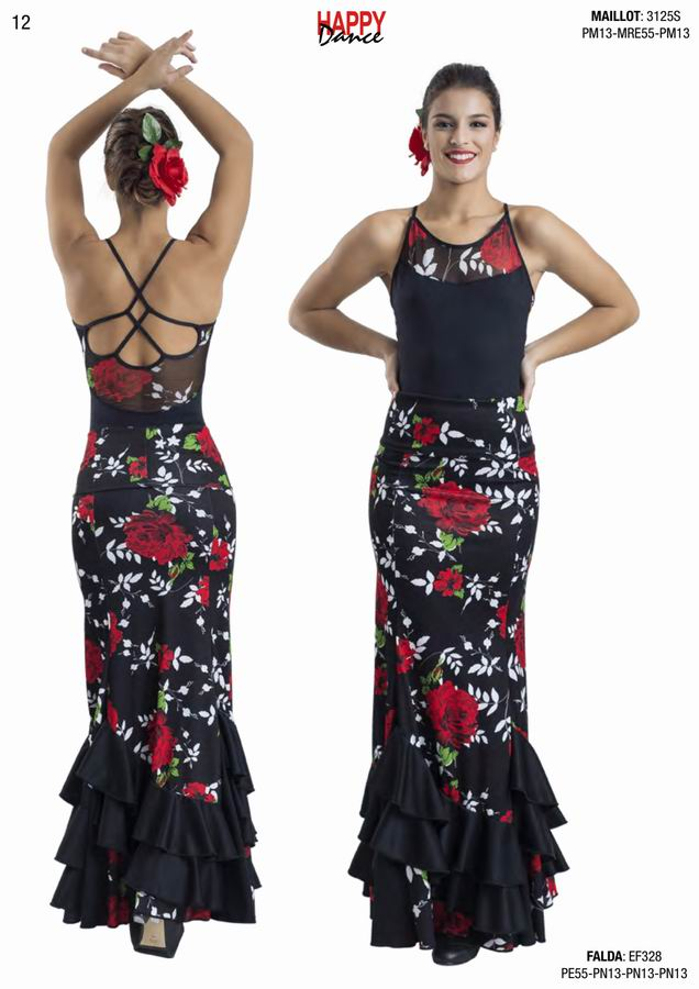 Happy Dance. Woman Flamenco Skirts for Rehearsal and Stage. Ref. EF328PE55PN13PN13PN13