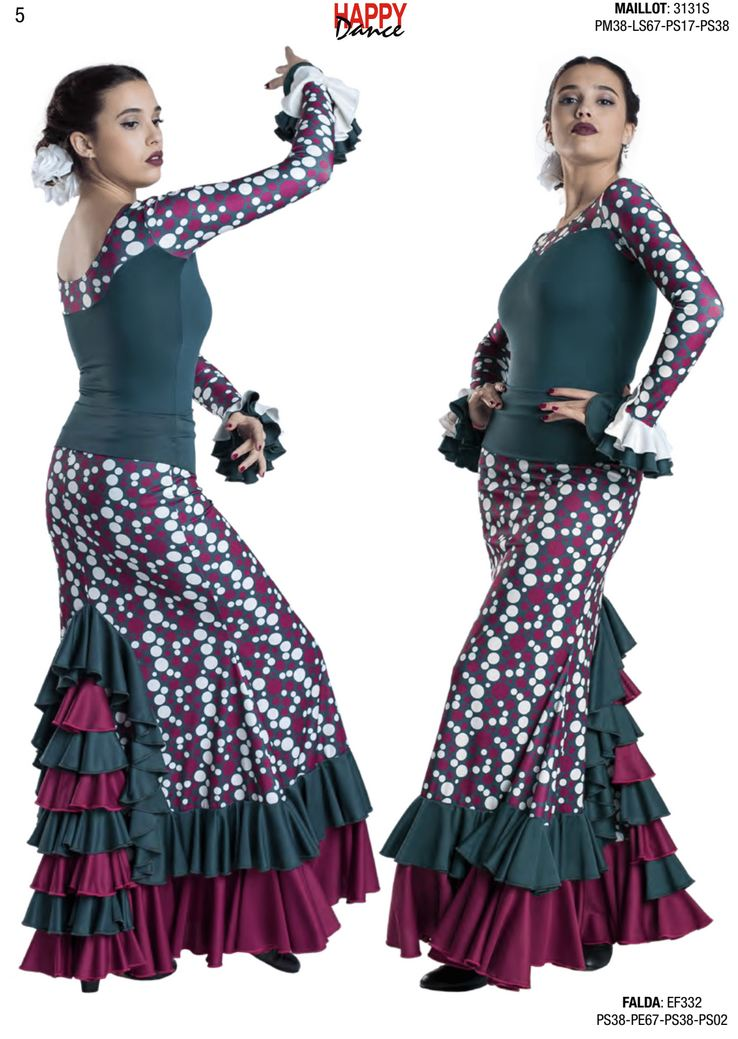 Happy Dance. Flamenco Skirts for Rehearsal and Stage. Ref. EF332PS38PE67PS38PS02
