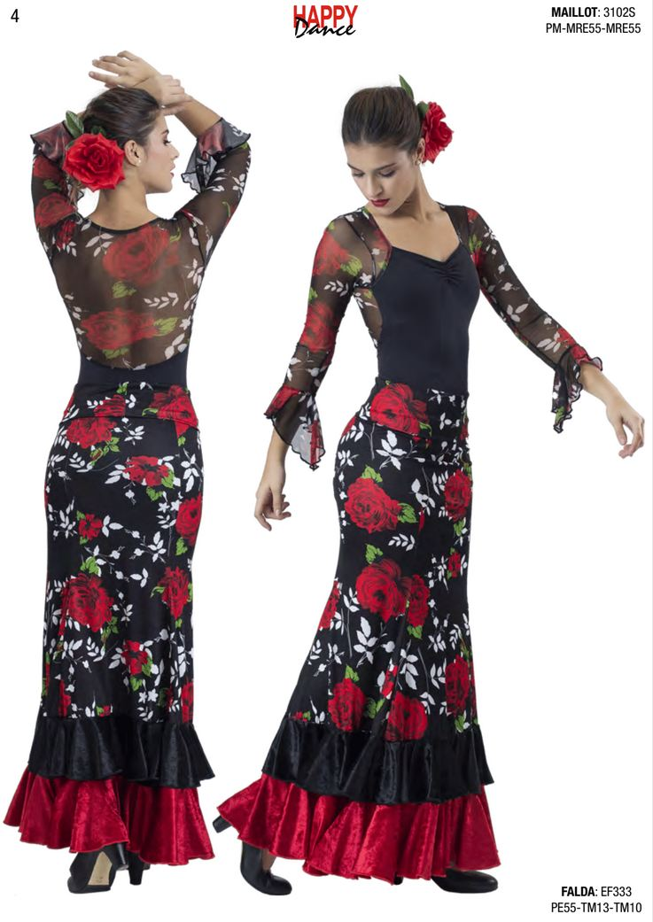 Happy Dance. Woman Flamenco Skirts for Rehearsal and Stage. Ref. EF333PE55TM13TM10