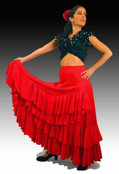 Rehearsal Flamenco Skirt: Model Rocio