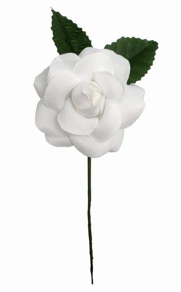White Flamenca Flower For Little Girl. 7cm.