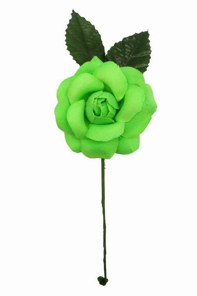 Pistachio Flamenca Flower For Little Girl. 7cm.