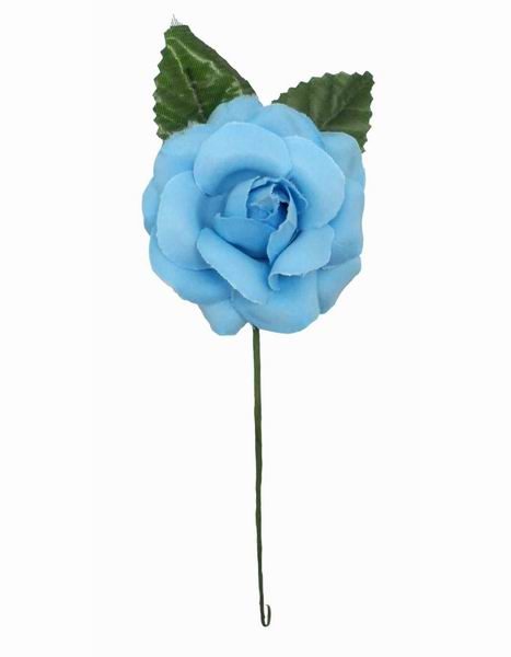 Blue Flamenca Flower For Little Girl. 7cm.