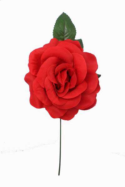 Big Red Rose Made of Fabric. 15cm