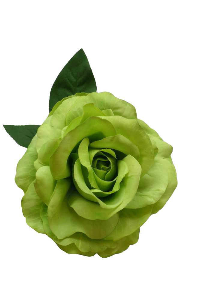 Flamenco flower. Mod. Marvelous Dyed Rose. Pistachio Green. 16cm