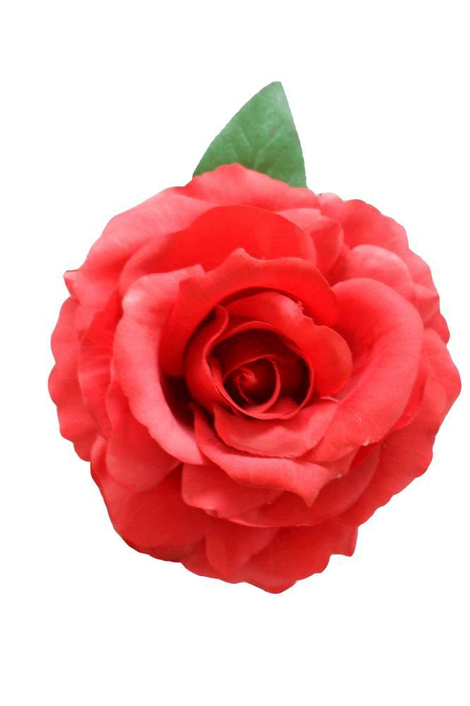 Flamenco flower. Mod. Marvelous Dyed Rose. Red. 16cm