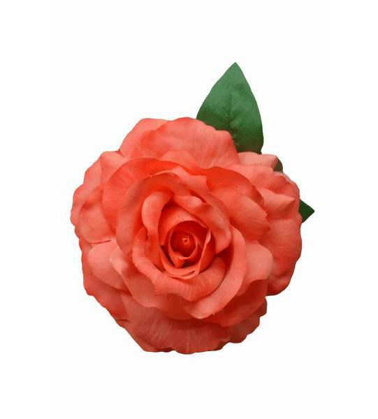 Flamenco flower. Mod. Marvelous Dyed Rose. Coral. 16cm