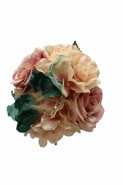 Bouquet of Flamenca Flowers in Skin and Green Tones