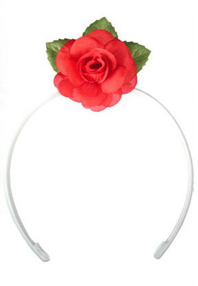 Diadem With Little Rose for Little Girl. 6cm