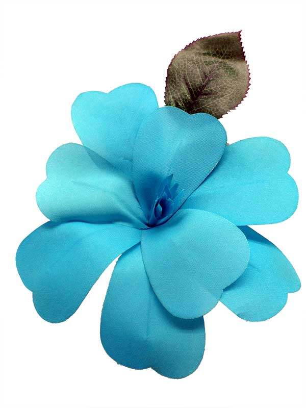 Flamenco Flower for Hair. Turquoise Artesana. 17cm