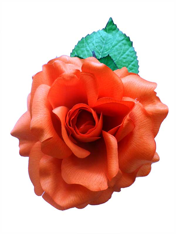 Flowers for the Feria. Orange Cinthia. 16cm