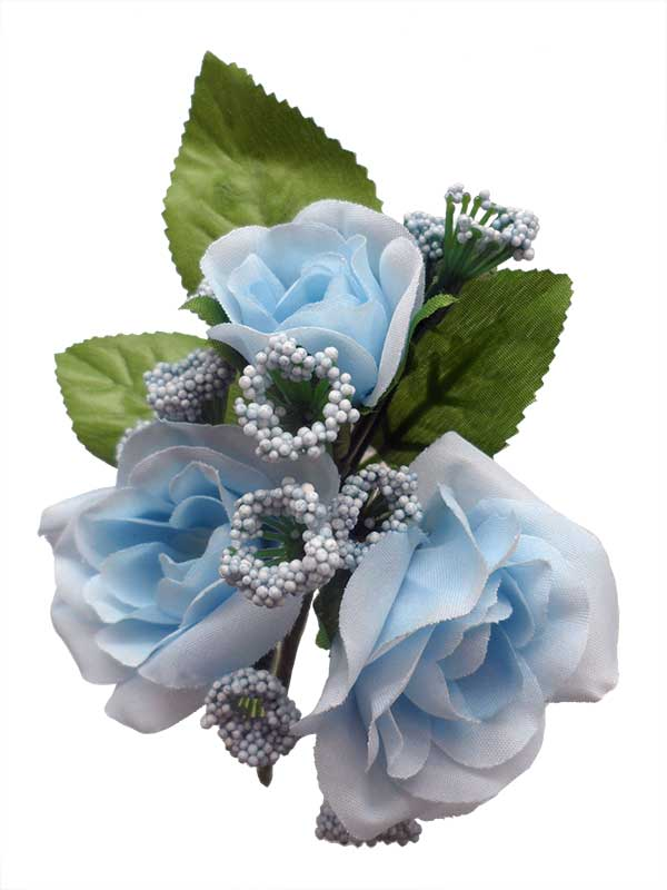 Bouquet of Flamenco Flowers for Girls. Light Blue Caracola