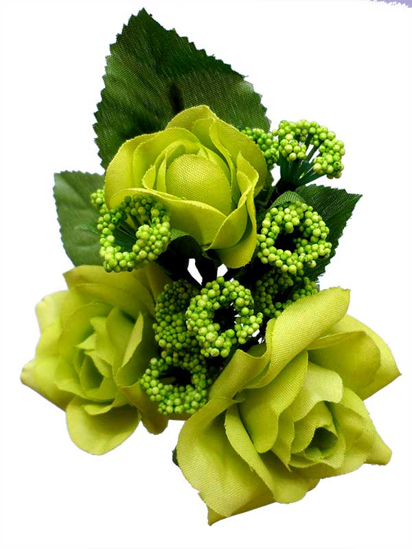 Bouquet of Flamenco Flowers for Girls. Pistachio Green Caracola