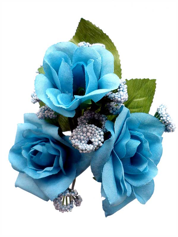 Bouquet of Flamenco Flowers for Girls. Turquoise Caracola
