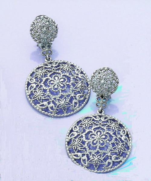 Flamenco earrings in high imitation jewellery. Ref. 40074
