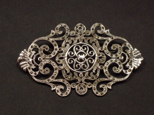 Silver and Marcasita brooch ref.076