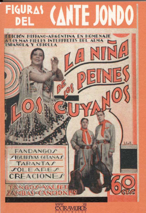 Figures of flamenco singing. La Niña de los Peines. The Cuyanos