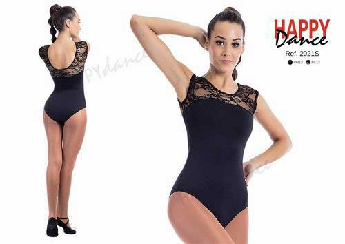 Sleeveless leotard in lace with bra Happy Dance. Ref. 2021