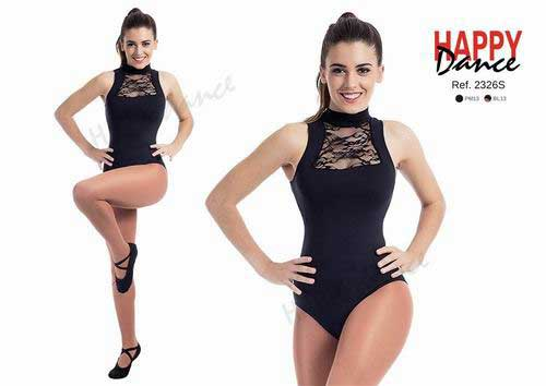 Sleeveless leotard with high collar with bra.Happy Dance. Ref. 2326