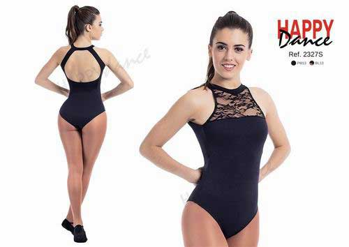 Sleeveless leotard in lace with bra Happy Dance. Ref. 2327
