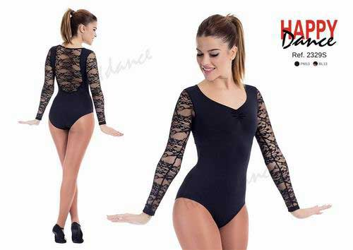 Leotard with long sleeves with V neckline and ruck with bra Happy Dance. Ref. 2329PM13BL13