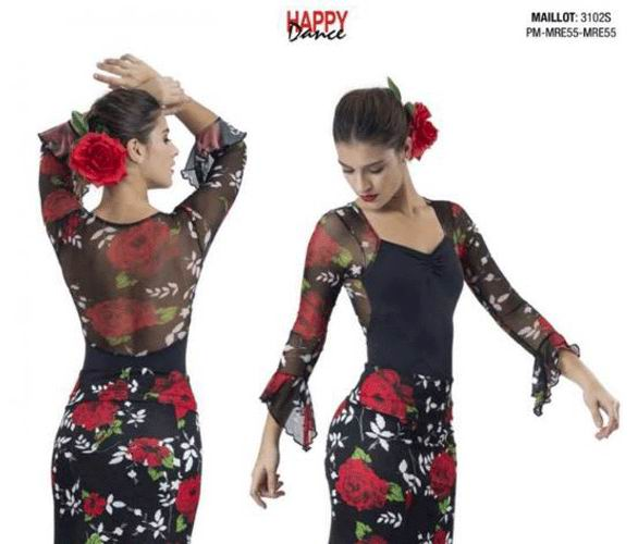 Woman Flamenco Maillot. Happy Dance. Ref. 3102s-PM13-MRE55-MRE55