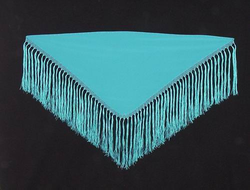 Shawls (small). Made of Crespon Ref. 252 esp. Measures: 110 X 50 cm. Fringe: 30 cm
