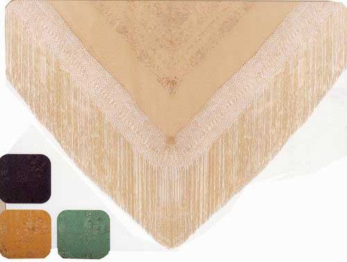 Handmade Embroidered Shawl of Natural Silk. Ref.1010617