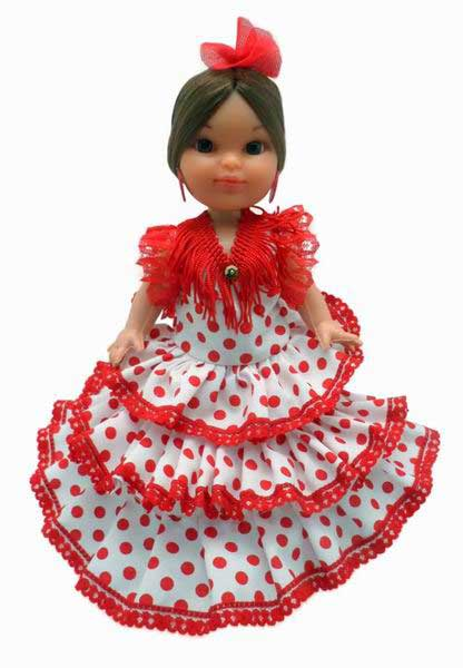 Traditional Flamenco Dolls. 25cm