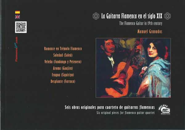 The Flamenco Guitar in the 19th Century, Al-Hambra Quartet by Manuel Granados (Book/CD in MP3)