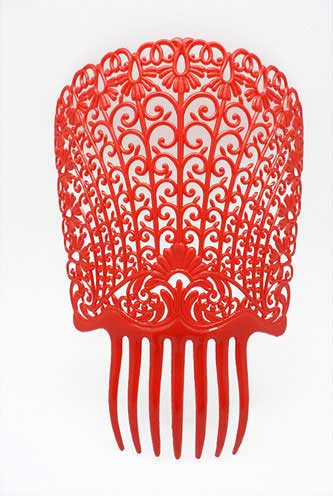 Plastic Teja Comb in Red