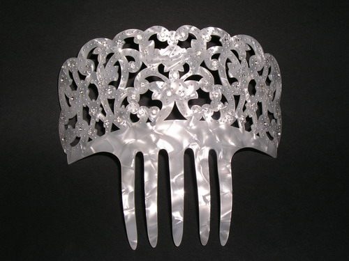 Mother of Pearl Comb with Strass - ref. N956STRASS
