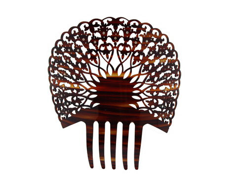 Shell Comb with Strass - ref. C313PSTRAS