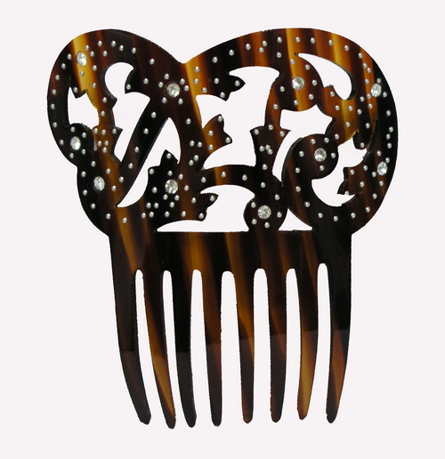 Mother of Pearl/Shell Comb With Strass- ref. S961