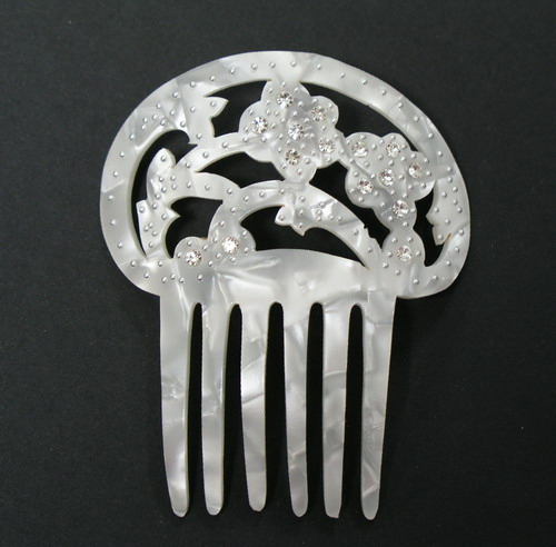 Mother of Pearl/Shell Comb with Strass- ref. S969N