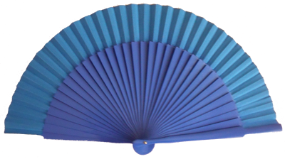 Varnishing wooden fan with 34 ribs