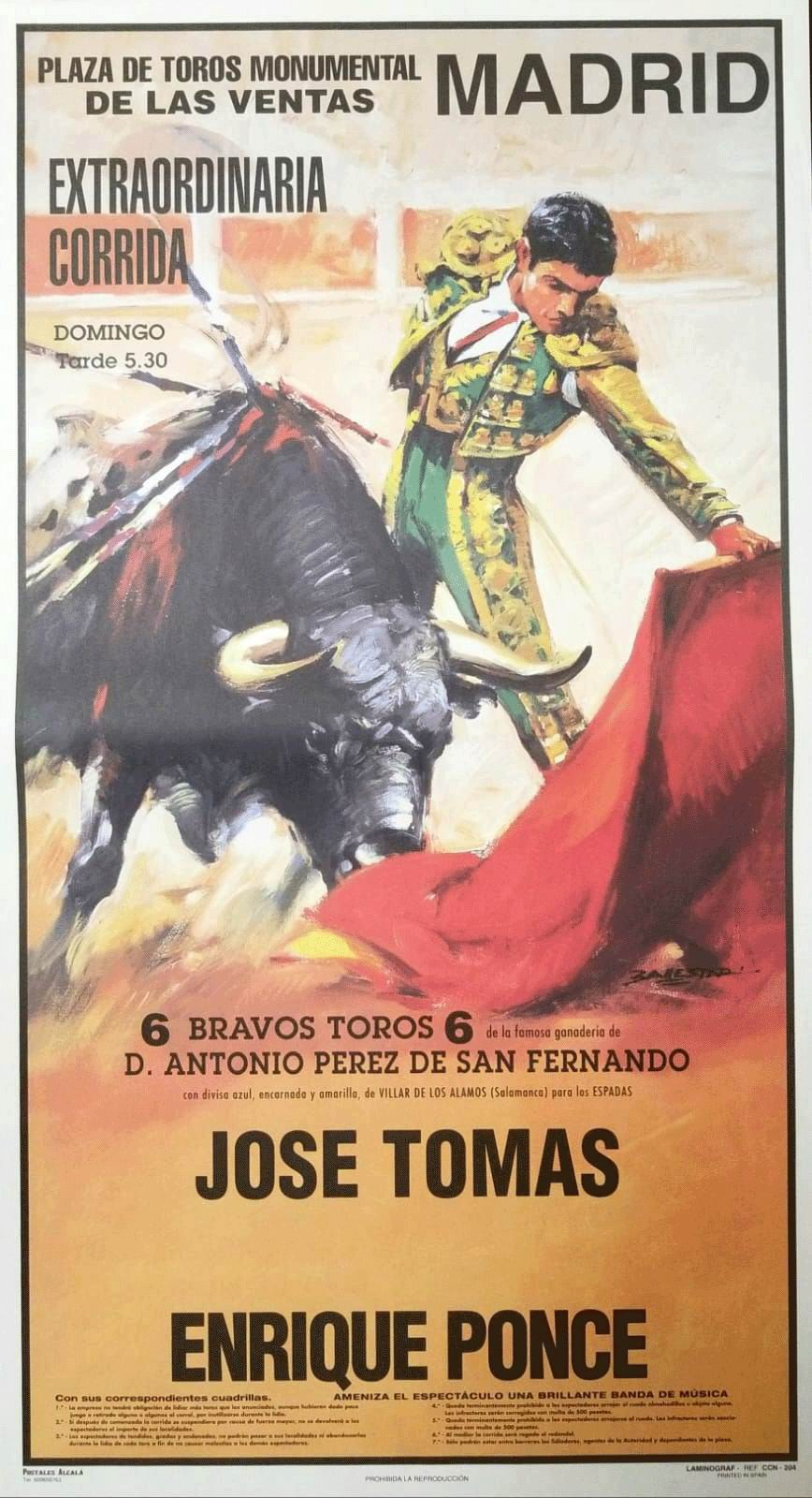 Cartel Plaza de Toros Monumental de Madrid - Ref. 204M