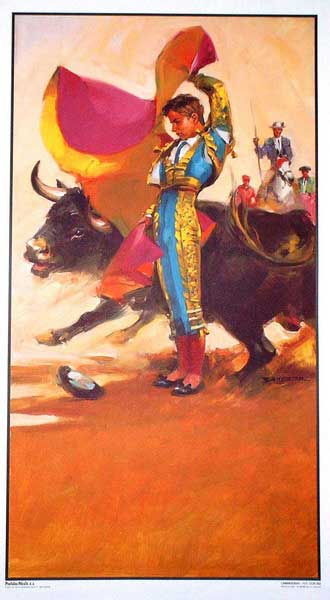 The bullfighting posters with bullfighting scenes ref. 202B