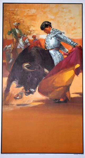 The bullfighting posters with bullfighting scenes ref.205B