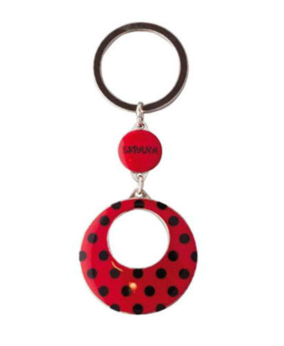 Key rings red earrings