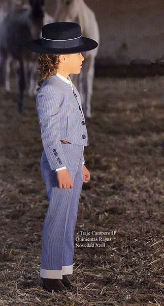 Blue Pinstripe JP Campero Suit for Kids