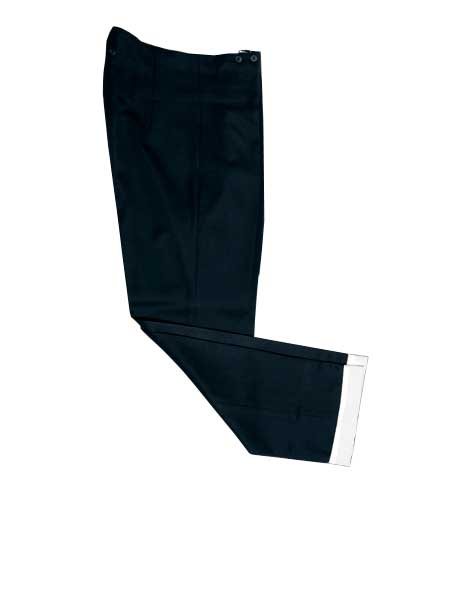 Black Stretchable Breeches for Kid with White Lapels
