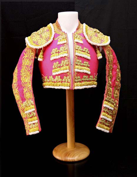 Authentic bullfighter outfit.  Fucsia and Golden.