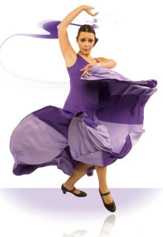 Robe de danse flamenco ref.E3693PS4PS3
