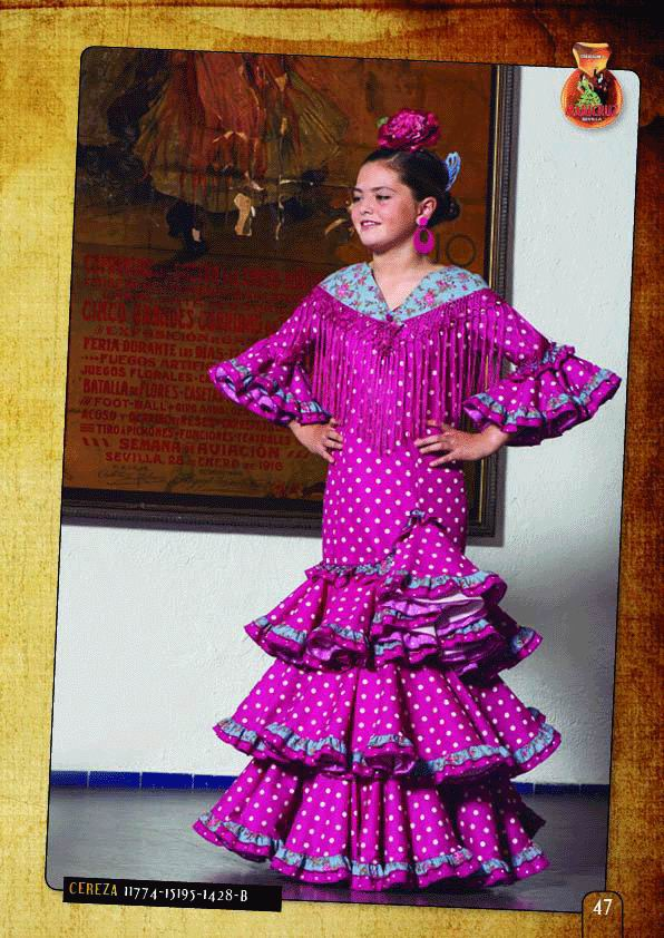 Flamenca Outfit for Girl. Model. Cereza