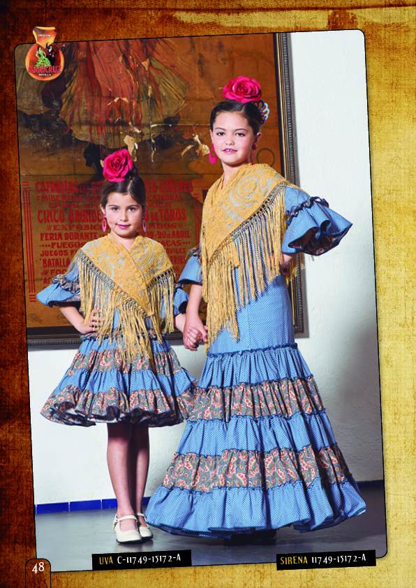 Flamenca Dress For Girl. Model. Uva Azul