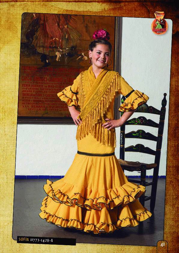 Flamenca Outfit for Girl. Model. Sofia
